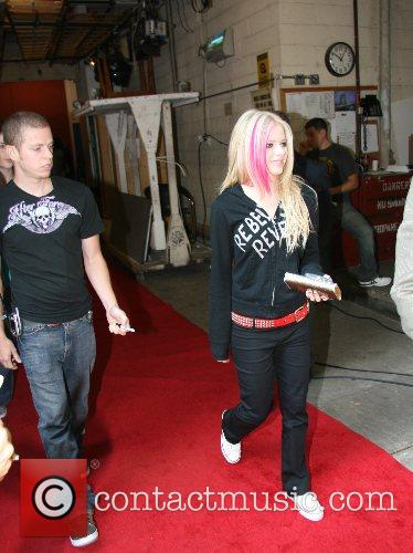 Avril Lavigne Celebrities at ABC Studios after appearing...
