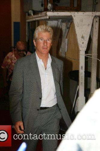 Richard Gere Celebrities at ABC Studios after appearing...