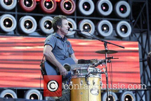 Performing at the Live Earth concert in the...