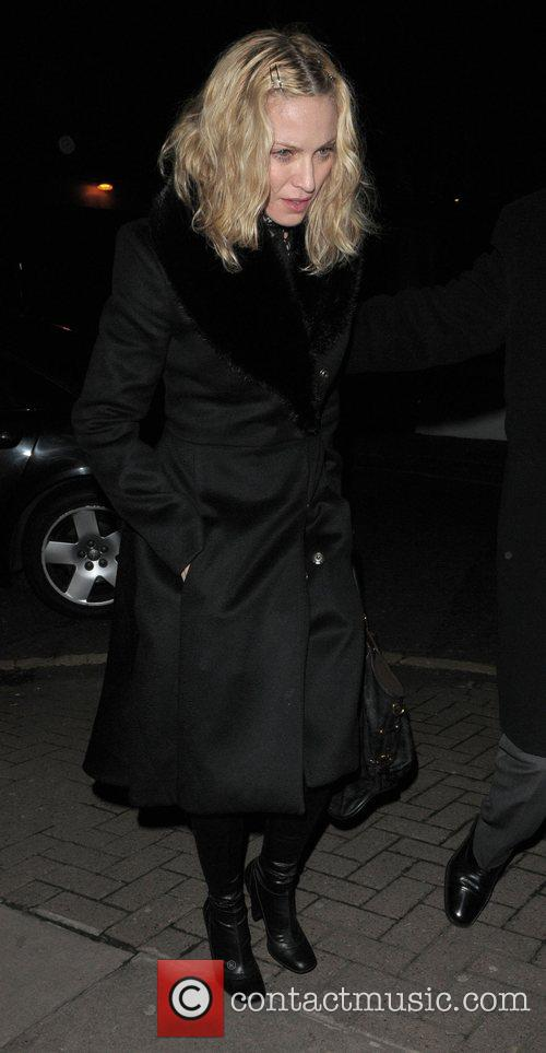 Madonna leaves Locanda Locatelli restaurant after dining with...