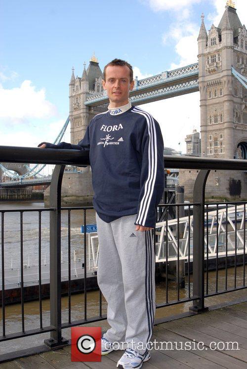 British Elite Runner Dan Robinson London Marathon 2008...