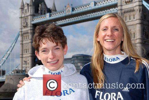 British Runners Hayley Haining and Liz Yelling London...