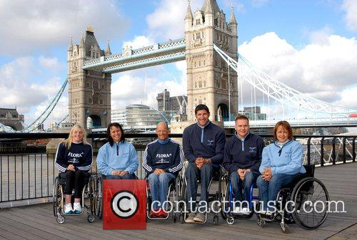 Wheelchair Racers London Marathon 2008 - Photocall...