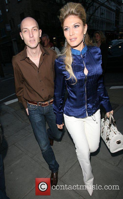 Hofit Golan and boyfriend Launch night of London...