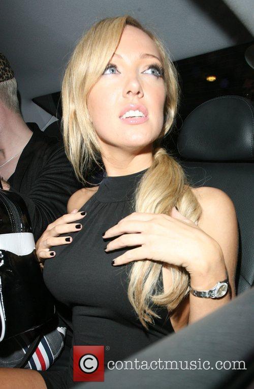 Aisleyne Horgan-Wallace feels her breasts! Launch night of...
