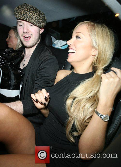 Aisleyne Horgan-Wallace flashes her knickers, much to the...