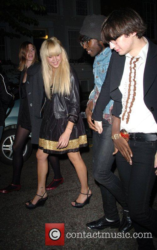 Peaches Geldof and guests leaving the Lonsdale Bar...