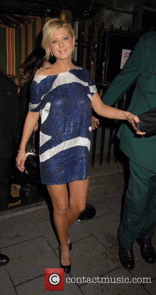 Tara Reid,  leave Annabell's Club London, England