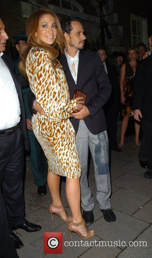 Jennifer Lopez and Mark Anthony,  leave Annabell's...