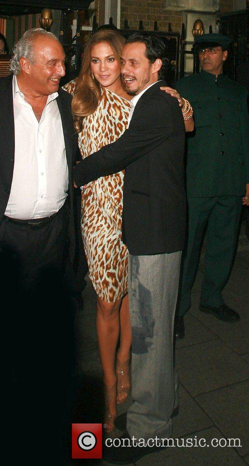 Sir Philip Green, Jennifer Lopez and Marc Anthony...