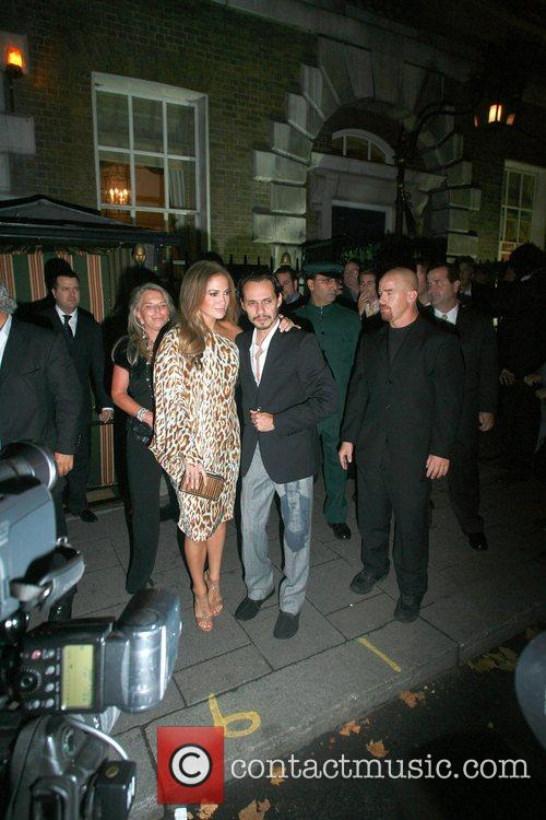Jennifer Lopez and Marc Anthony at Annabell's Club...