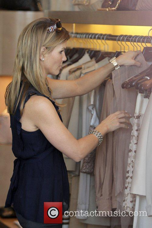 Lori Loughlin shopping on Melrose Avenue Los Angeles,...