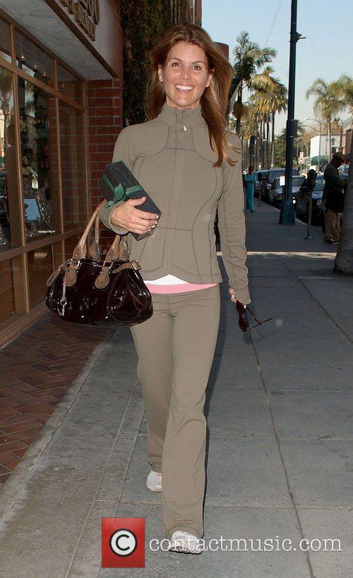 American television actress Lori Loughlin leaving a medical...
