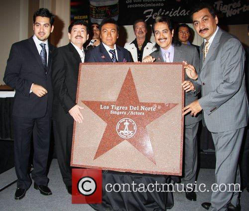 Los Tigres Del Norte honored with a star...