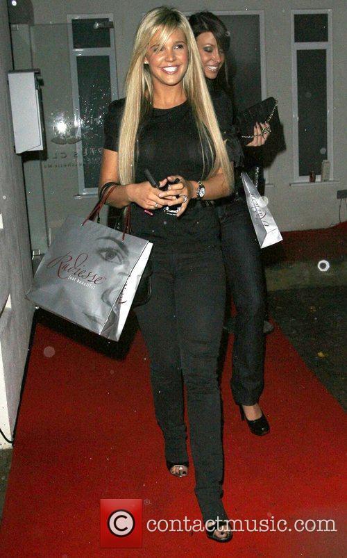 Danielle Lloyd leaving the Lotus Clinic launch london,...