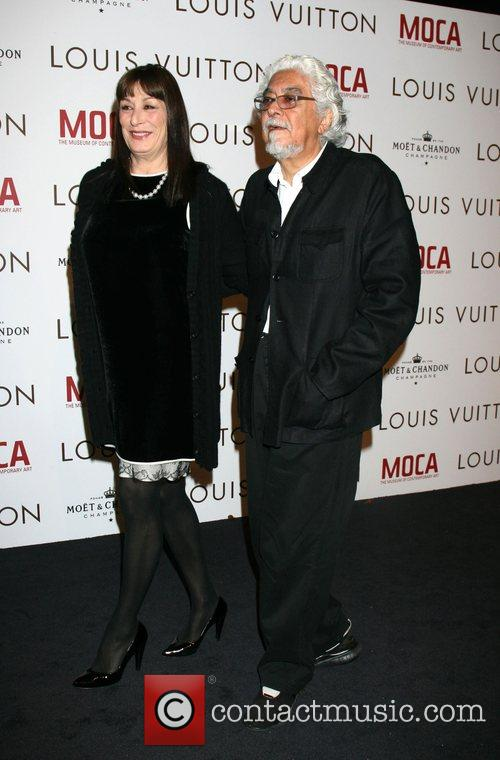 Anjelica Huston & Husband Robert Graham Murakami Exhibition...