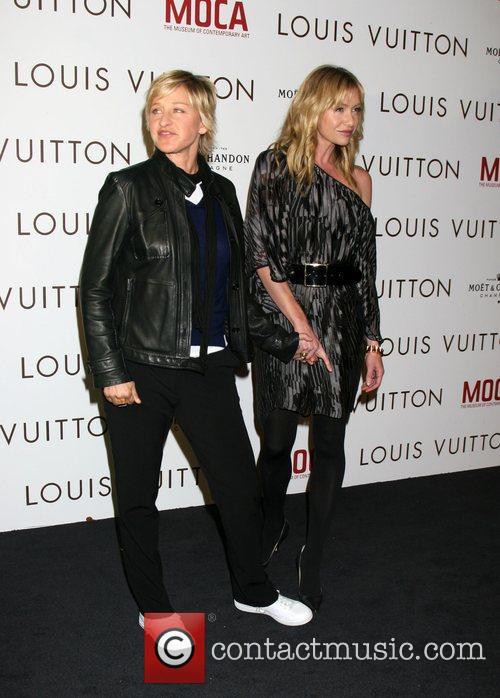 Ellen DeGeneres & Portia DeRossi Murakami Exhibition at...