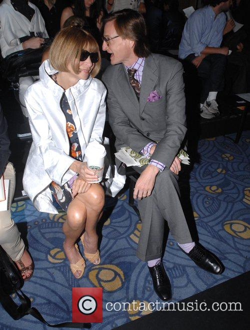 Anna Wintour and guest London Fashion Week Spring/Summer...