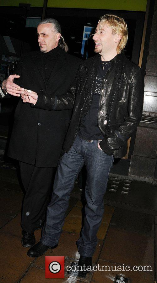 Chad Kroeger leaving the Luxury British Club