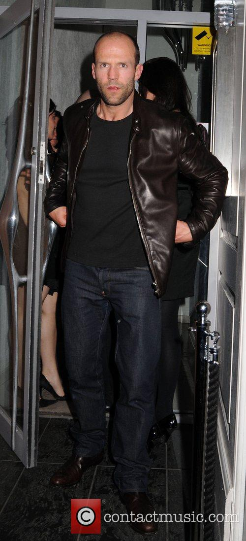 Jason Statham, friends leaving the Luxury British Club