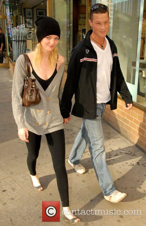 Lydia Hearst and her boyfriend out and about...