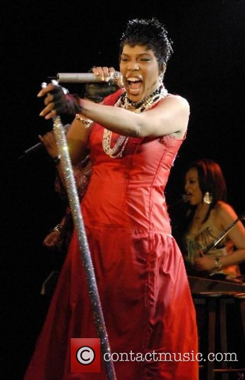 Macy Gray performs live at the Key Club...