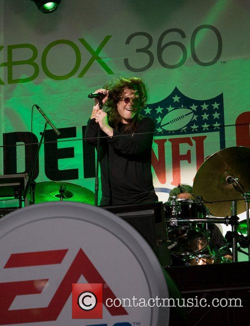 Ozzy Osbourne performing at the launch of Madden...