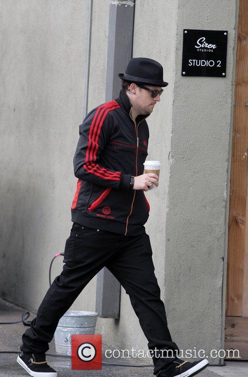Joel Madden arriving at Siren Studios in Hollywood...