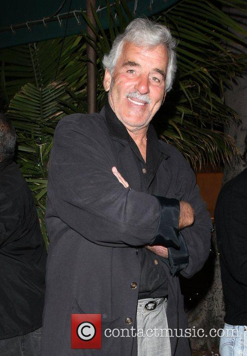 Dennis Farina leaving Madeo Restaurant on Beverly Blvd....