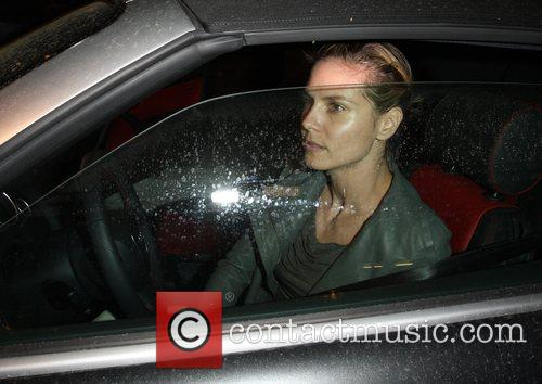 Heidi Klum in the driver's seat leaving Madeo...