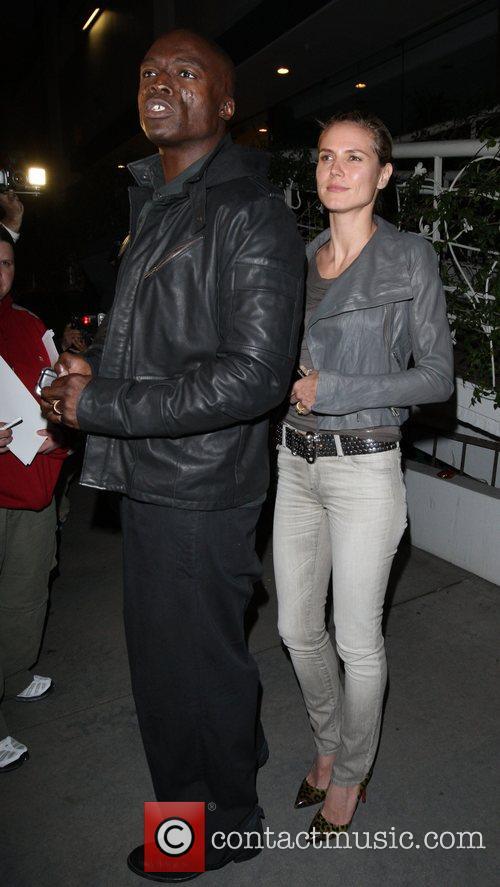 Seal and Heidi Klum leaving Madeo Restaurant on...