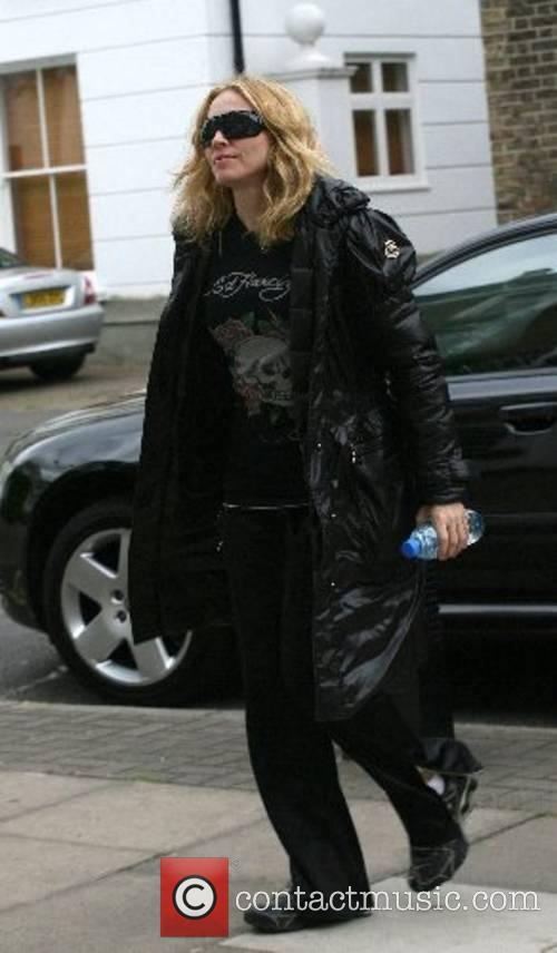 Madonna arriving at the gym London, England