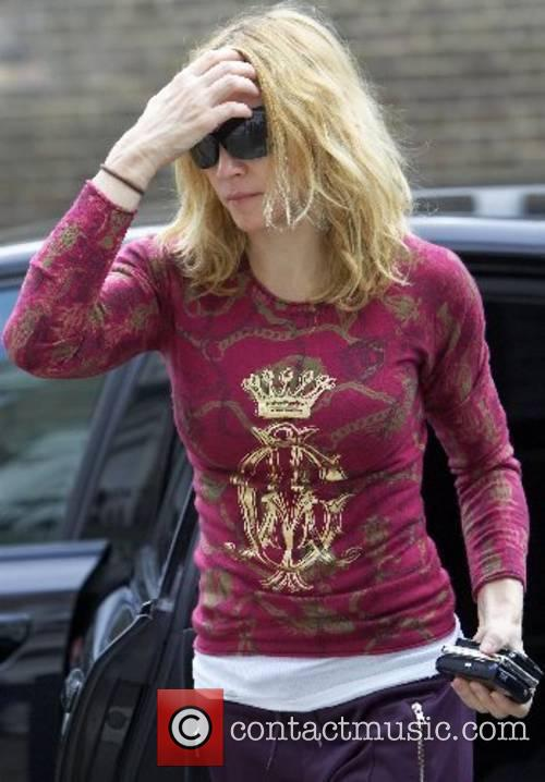 Madonna arriving at the gym