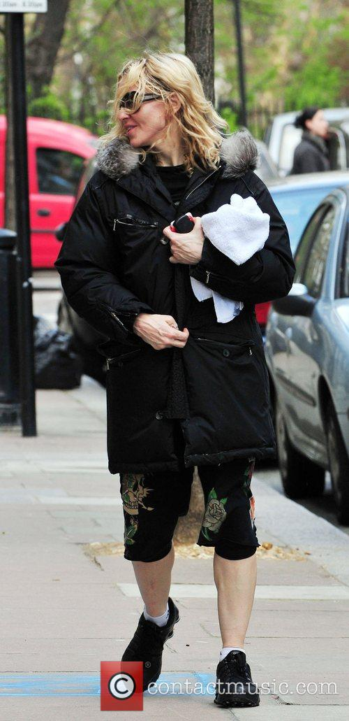 Madonna leaving the gym with her trainer London,...