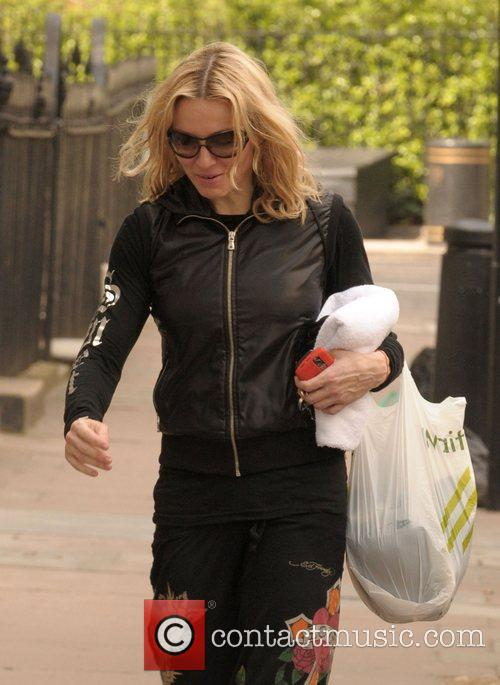 Madonna leaving her gym London, England