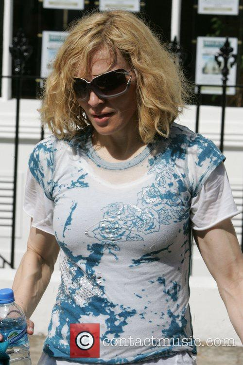 Madonna  Looking refreshed after a workout, wearing...