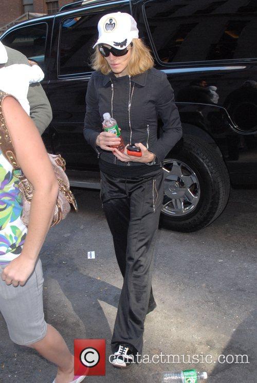 Madonna and her adopted son David Banda...