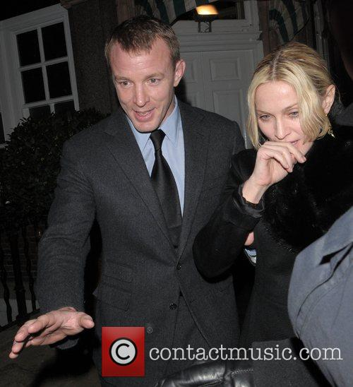 Madonna and Guy Ritchie leaving Harry's Bar London,...