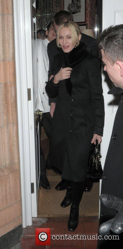 Madonna and Guy Ritchie leaving Harry's Bar