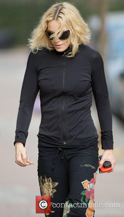 Madonna goes to the gym next door to...