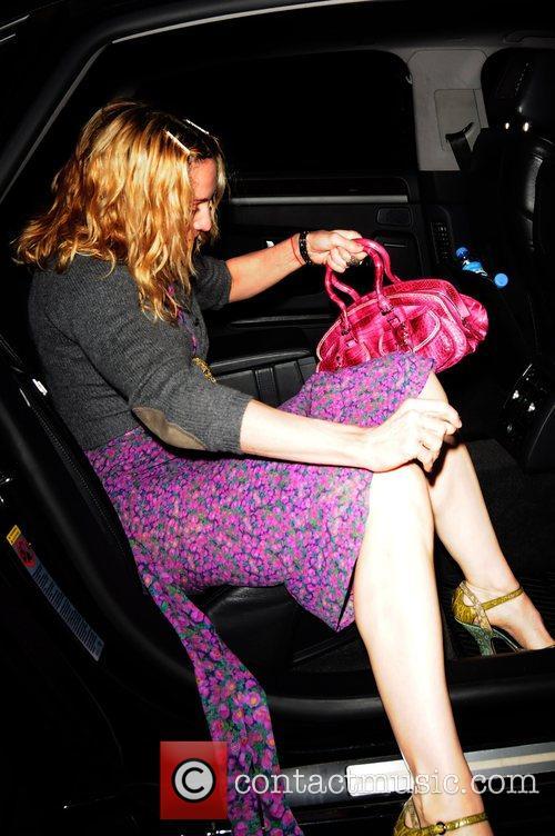 Madonna leaving Claridges Hotel London, England