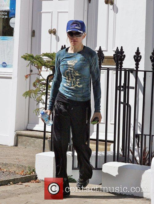 Madonna leaving her Pilates class at a North...