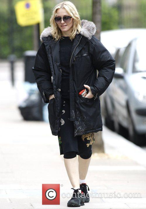 Madonna on the way to her Gym