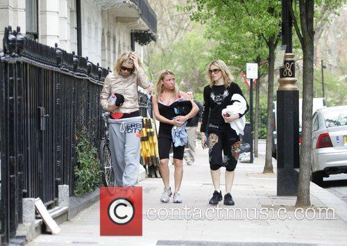 Gwyneth Paltrow and Madonna  leaving their gym...
