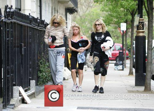 Leaving their gym with their personal trainer