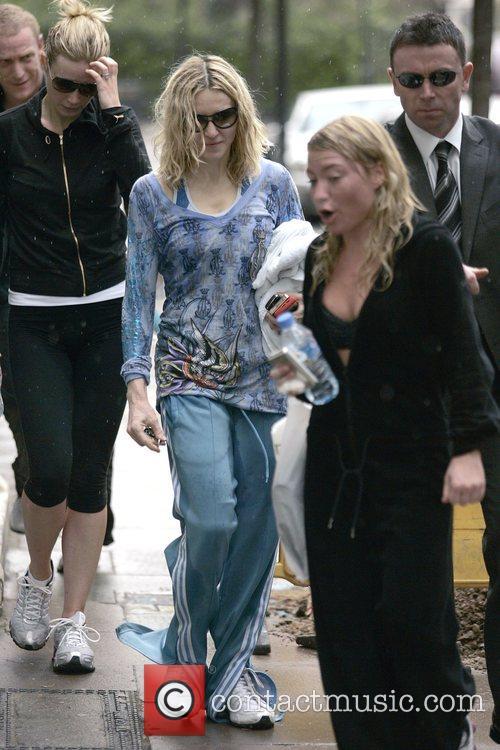 Madonna and Gwyneth Paltrow leaving their gym