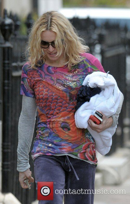 Madonna  leaving her gym again London, England