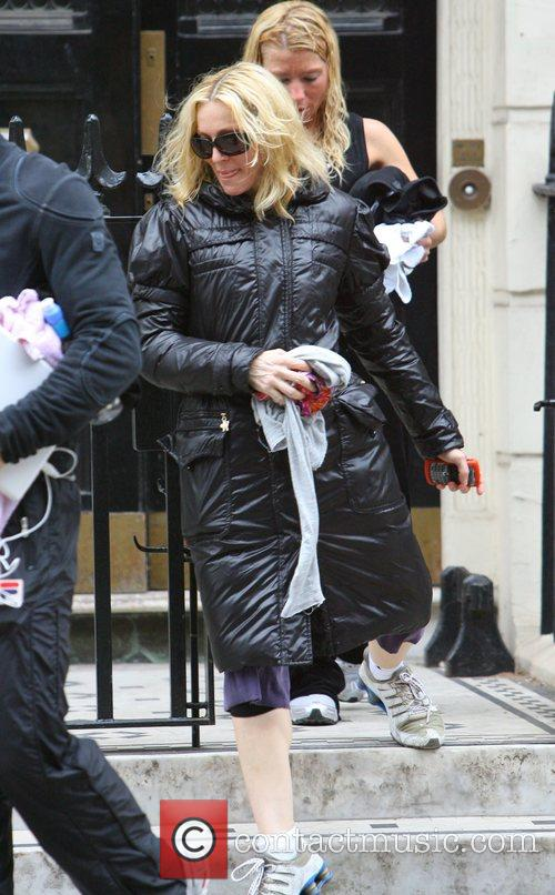 Madonna leaving her private gym which is next...