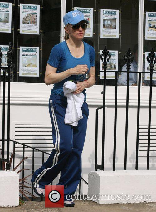 Madonna leaving the gym after what looks like...