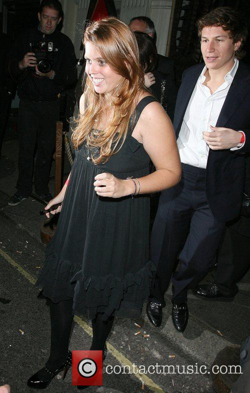 Princess Beatrice leaving Mahiki club London, England